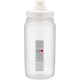 Elite Fly Trinkflasche 550ml clear/grey logo